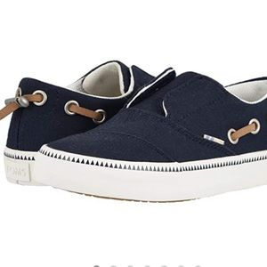 """TOMS """"Pasadena"""" slip on shoes - youth size 4.5"""